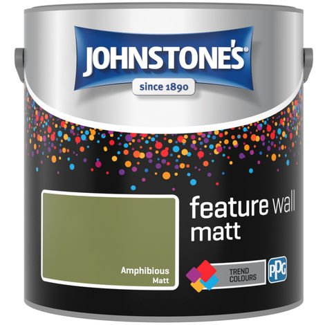 Johnstones Feature Wall Interior Matt Emulsion Amphibious 2.5 Litre