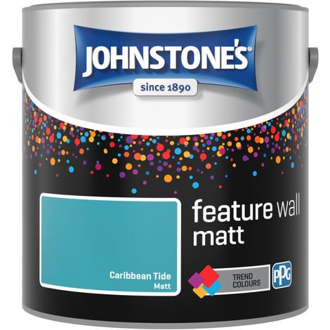 Johnstones Feature Wall Interior Matt Emulsion Caribbean Tide 2.5 Litre