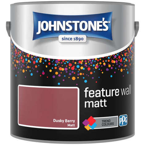 Johnstones Feature Wall Interior Matt Emulsion Dusky Berry 2.5 Litre