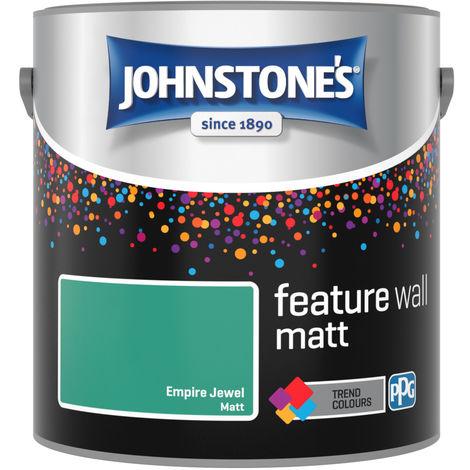 Johnstones Feature Wall Interior Matt Emulsion Empire Jewel 2.5 Litre