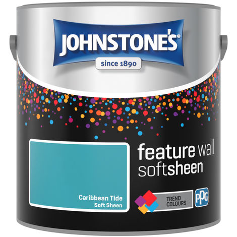 Johnstones Feature Wall Interior Soft Sheen Emulsion Caribbean Tide 2.5 Litre