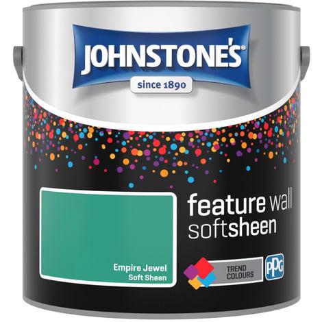 Johnstones Feature Wall Interior Soft Sheen Emulsion Empire Jewel 2.5 Litre