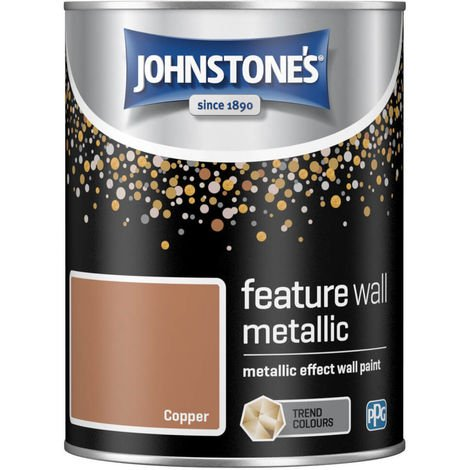 Johnstones Feature Wall Metallic Effect Wall Paint 1.25L