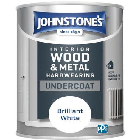 "main image of ""Johnstone's 303901 750ml All Purpose Undercoat Paint - Brilliant White"""