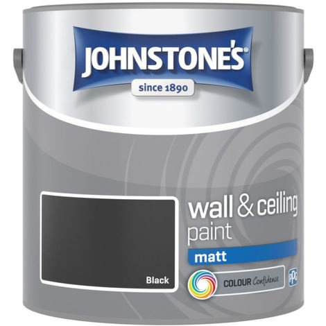 Johnstones Interior Matt Emulsion Black 2.5 Litre