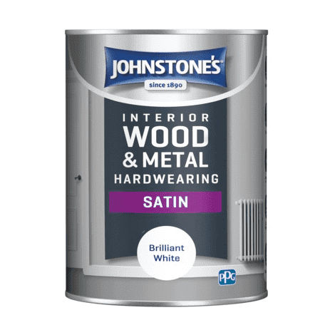 Johnstones Interior Wood & Metal Hardwearing Satin Brilliant White