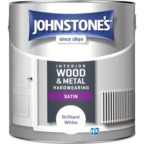 Johnstones Interior Wood & Metal Hardwearing Satin Brilliant White