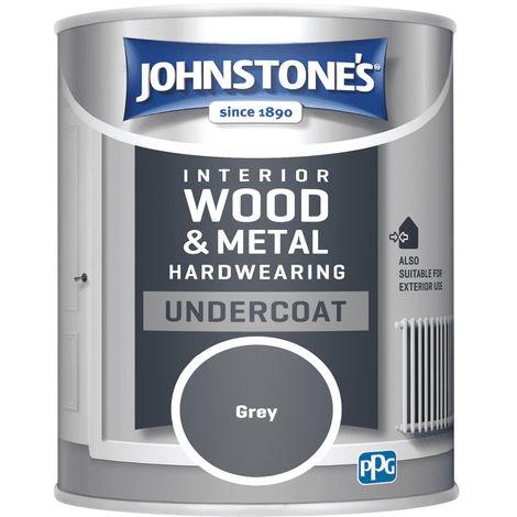 Johnstones Interior Wood & Metal Hardwearing Undercoat Grey 750ml