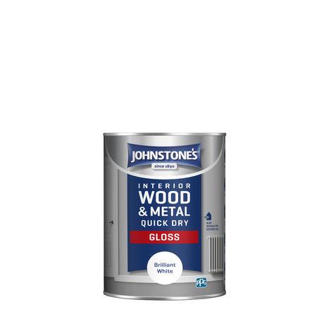 Johnstones Interior Wood & Metal Quick Dry Gloss Brilliant White
