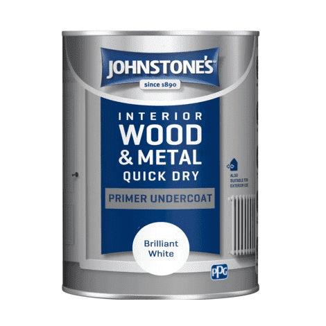 Johnstones Interior Wood & Metal Quick Dry Primer Undercoat Brilliant White
