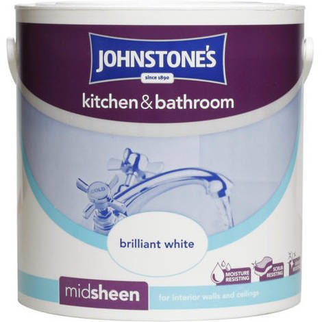 Johnstones Kitchen And Bathroom Brilliant White 2.5 Litre