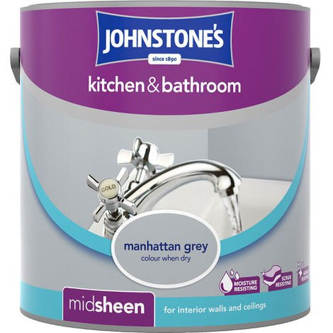 Johnstones Kitchen And Bathroom Manhattan Grey 2.5 Litre