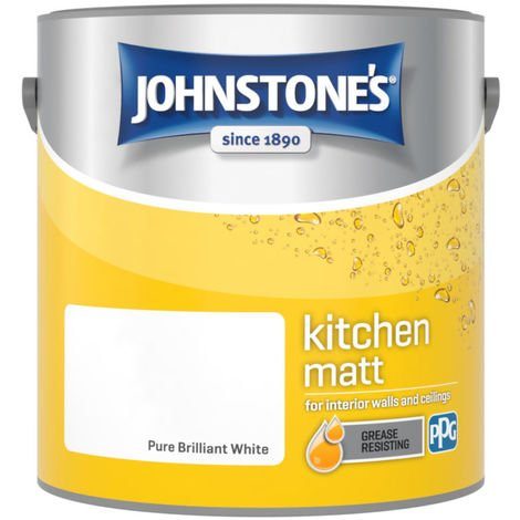 Johnstones Kitchen Matt Emulsion Brilliant White 2.5 Litre