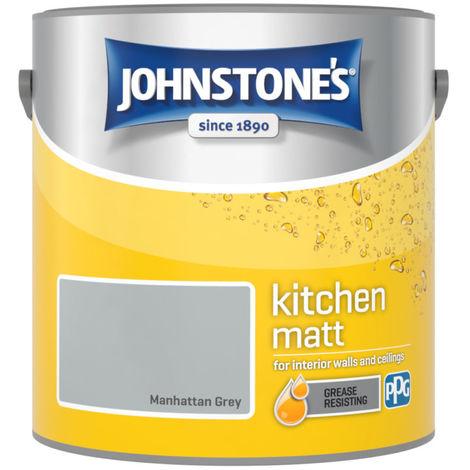 Johnstones Kitchen Matt Emulsion Manhattan Grey 2.5 Litre