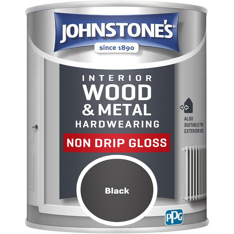 Image of 303880 750ml Non Drip Gloss Paint - Black - Johnstone's