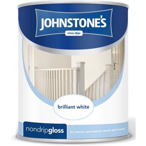 Johnstones Non Drip Gloss Brilliant White 2.5 Litre