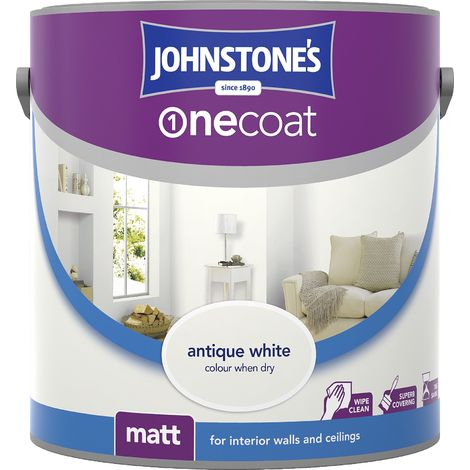 Johnstone's One Coat Matt Emulsion Brilliant White 2.5 Litres