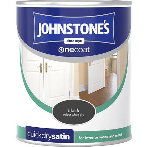 Johnstones One Coat Quick Dry Satin Black 750ml