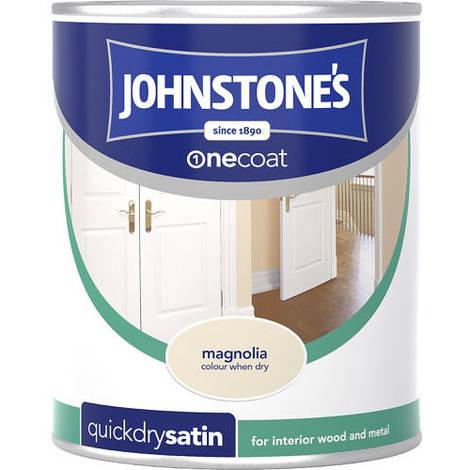 Johnstones One Coat Quick Dry Satin Magnolia 750ml