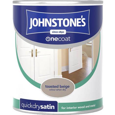 Johnstones One Coat Quick Dry Satin Toasted Beige 750ml