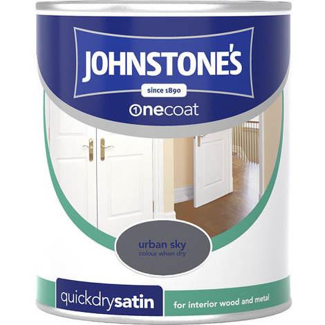 Johnstones One Coat Quick Dry Satin Urban Sky 750ml
