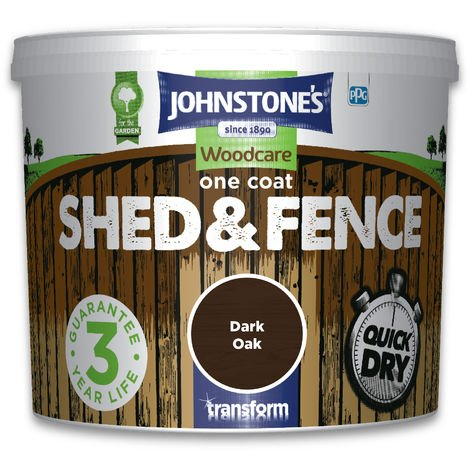 Johnstone's One Coat Shed & Fence Dark Oak 5l