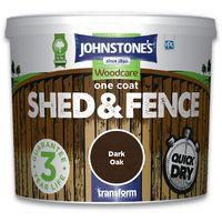 Johnstone's One Coat Shed & Fence Dark Oak 5l