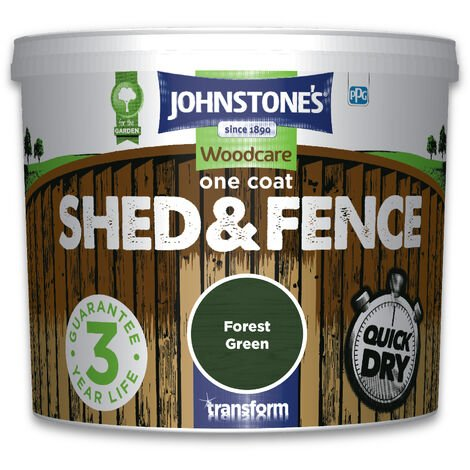 Johnstone's One Coat Shed & Fence Forest Green 5l
