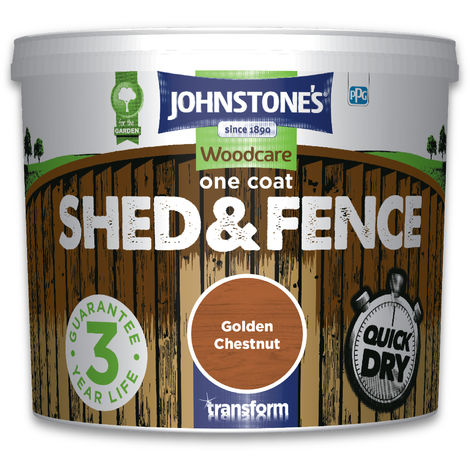 Johnstone's One Coat Shed & Fence Golden Chestnut 5l
