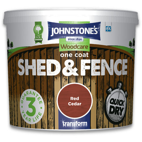 Johnstone's One Coat Shed & Fence Red Cedar 5l