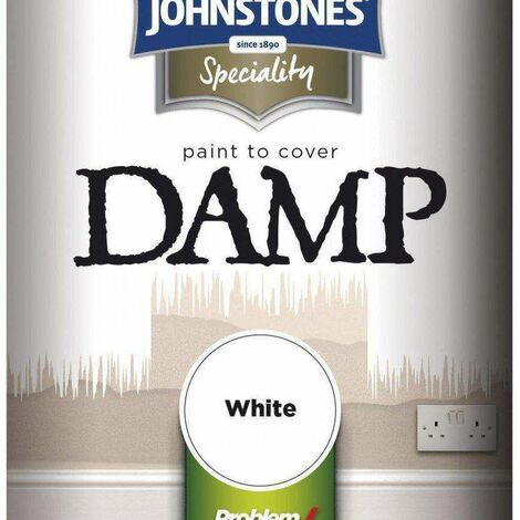 """main image of """"Johnstone's Paint Paint To Cover Damp 750ml White"""""""
