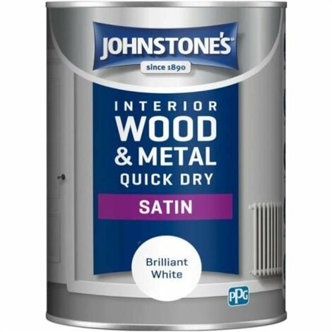 "main image of ""Johnstone's Paint Quick Dry Satin 1.25L Brilliant White - Default Title"""