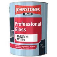 Johnstone's Professional Gloss Magnolia 5 Litres