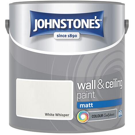 """main image of """"Johnstone's Retail Wall & Ceiling Paint Matt White Whisper 2.5 - White Whisper"""""""