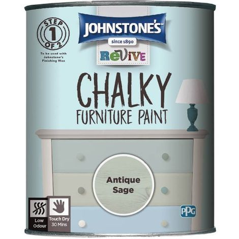 Johnstone's Revive Chalky Furniture Paint 750ml (choose colour)
