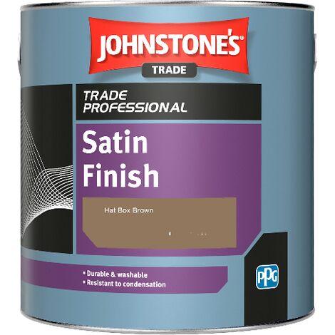 Johnstone's Satin Finish - Hat Box Brown - 1ltr