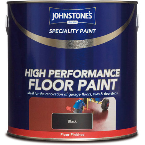 Johnstones Speciality High Performance Floor Paint Black 2.5 Litre