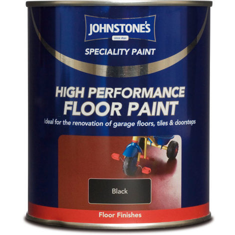 Johnstones Speciality High Performance Floor Paint Black 750ml