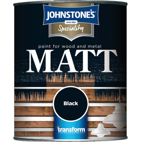 Johnstones Specialty Paints Flat Matt Black Non Reflective Paint