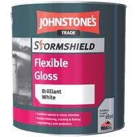 Johnstone's Stormshield Flexible Gloss Brilliant White 2.5 Litres