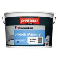 Johnstone's Stormshield Smooth Masonry Magnolia 10 Litres