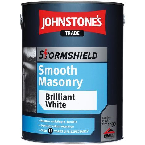 Johnstone's Stormshield Smooth Masonry Magnolia 5 Litres