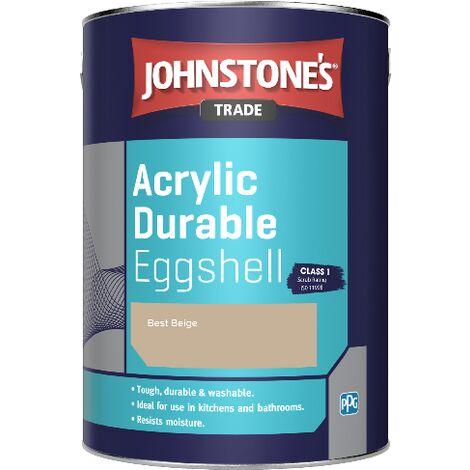 Johnstone's Trade Acrylic Durable Eggshell - Best Beige - 2.5ltr