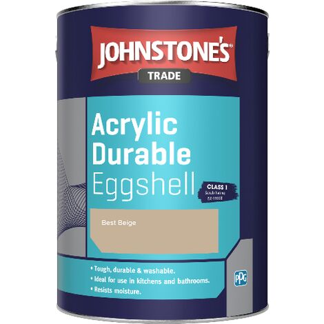 Johnstone's Trade Acrylic Durable Eggshell - Best Beige - 5ltr
