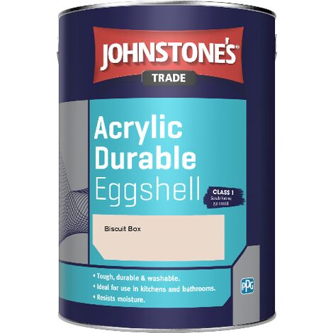 Johnstone's Trade Acrylic Durable Eggshell - Biscuit Box - 5ltr