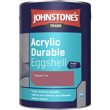 Johnstone's Trade Acrylic Durable Eggshell - Dessert Tray - 2.5ltr