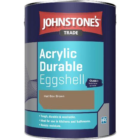 Johnstone's Trade Acrylic Durable Eggshell - Hat Box Brown - 2.5ltr