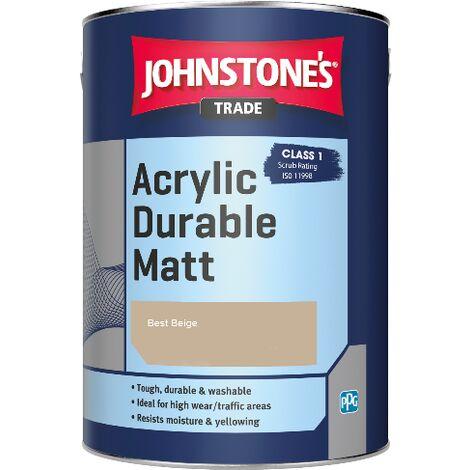 Johnstone's Trade Acrylic Durable Matt - Best Beige - 2.5ltr