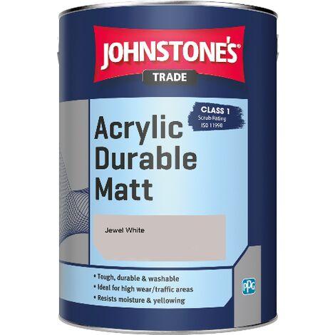Johnstone's Trade Acrylic Durable Matt - Jewel White - 5ltr