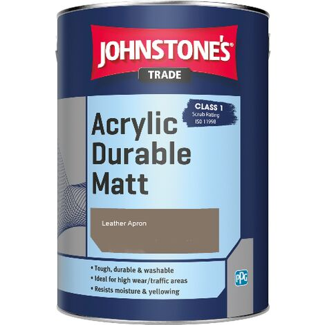 Johnstone's Trade Acrylic Durable Matt - Leather Apron - 5ltr